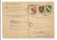 7238- 1946 8+3+1 Pfg. Saarbrücken 2- Berlin Pankow **Franz. Zone
