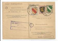 1946 8+3+1 Pfg. Saarbrücken 2- Berlin Pankow **Franz. Zone