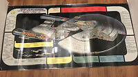 Vintage Star Trek Poster Original Next Generation USS Enterprise Laminated 1991