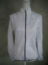 Mizuno Womens Size S Impermalite Jacket White Packable Lightweight Running Golf