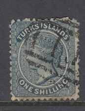 TURKS & CAICOS - 1867 - Sg3 - 1/ dull blue - fine used