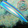 Chameleon Glitter Dust Mirror Effect Nail Art Chrome Pigment Holographic Powder@