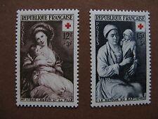 FRANCE neufs  n° 966 et 967 Croix-Rouge (1953)