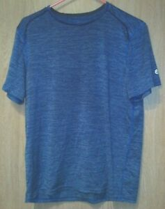 Champion - Men's Blue Striped Exercise Shirt (M)
