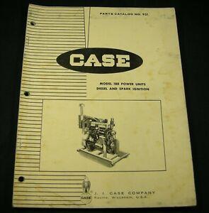 CASE Model 188 Engine Power Units Diesel Spark Ignition Parts Manual Book OEM