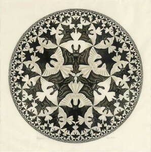 M.C. Escher Angels Poster Reproduction Paintings Giclee Canvas Print