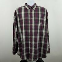 Cinch Men's Purple Gray Check Plaid L/S Western Snap Button Shirt Sz XL