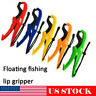 Fishing Gripper Holder Floating Lip Grip Pliers Grabber +Lanyard Fish Clamp Tool