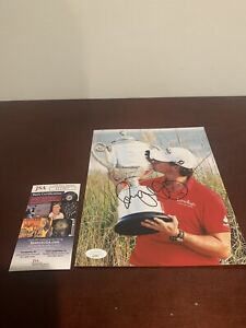 PGA GOLF STAR Rory McIlroy SIGNED PGA CHAMPIONSHIP 8X10 PHOTO WITH JSA +