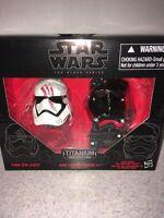 Star Wars #5 Black Series Titanium Helmet Finn FN-2187 First Order Tie Pilot NEW