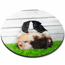 Round Mouse Mat - Cute Fat Guinea Pig Pet Rodent Office Gift #16771
