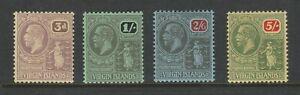 British Virgin Islands 1922 Block watermark 4v SG 82-85 Mint.