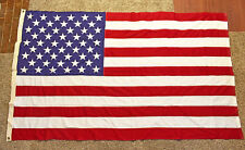 VTG Sewn 50 Star American Flag 50x82 inch Valley Forge Made in USA 2x2 Ply Cott.