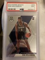2019-20 Mosaic Zion Williamson PSA 9 MINT #209 RC Rookie Card Pelicans QTY