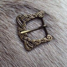 Brass Viking Decorated Belt Buckle - Re-Enactment Costume Accessory