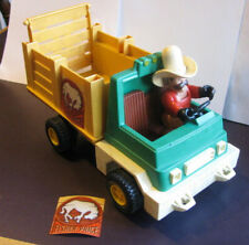 Vintage 1979 Fisher Price HUSKY HELPER Rodeo Rig Truck, Cowboy, & Decals