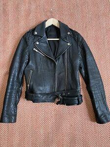 Mackage Leather Motorcycle Jacket