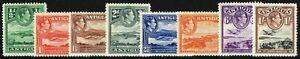 SG 98-105 ANTIGUA 1938 DEFINITIVES - SHORT SET TO 1/- MOUNTED MINT