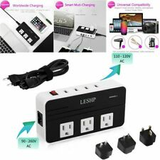 LESHP 200W Voltage Converter with 4 USB Ports,Step Down 220V to 110V UU