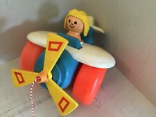 FISHER PRICE nr 171 vintage pull toy Airplane 1980
