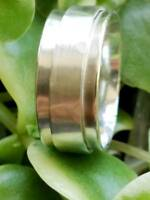 Solid 925 Sterling Silver Spinner Ring Meditation Ring Statement Ring Size sr307