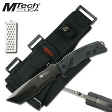 Mtech Knives Tactical Knife G10 Handle with Diamond Sharpener MT-520