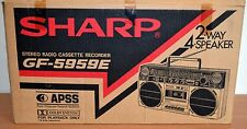 Sharp GF Boombox/Ghettoblaster de la Caja 5959 e sólo