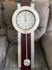 Howard Miller Bergen Wall Clock 625-279 – Modern Pendulum & Quartz Movement