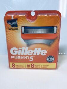 GILLETTE FUSION 5 RAZOR SHAVER BLADES 8 CARTRIDGES PACK REFILL  SEALED 6883