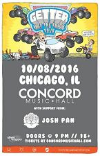 "GETTER /JOSH PAN ""WHAT THE FRICK TOUR"" 2016 CHICAGO CONCERT POSTER-Dubstep Music"