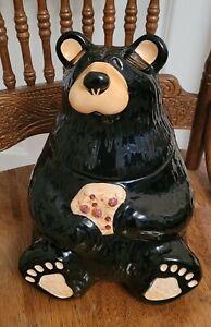 Big Sky Carvers Bearfoots Ceramic Cookie Jar by Jeff Fleming