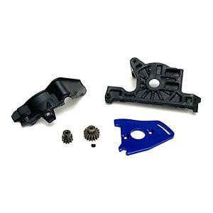 Traxxas Rustler 4X4 VXL Motor Mount & Plate w/ 11T 17T Pinion Gear & Gear Cover