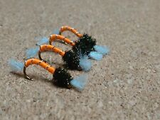 Orange Trout Buzzers Trout Lures Fly Fishing Trout Flies