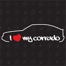 Amo mio vw Corrado - Ventilatore Adesivo, g60 Auto Tuning Adesivo