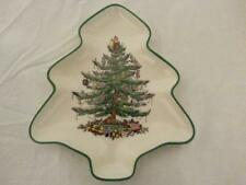 "SPODE CHRISTMAS TREE SHAPED SMALL DISH SERVING CANDY ROYAL CHINA 5.5"" ENGLAND"