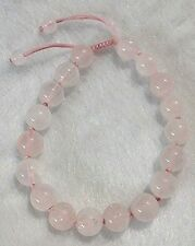 Gina's Charms ROSE QUARTZ Love & Fertility Infinity Bracelet - Gemstone Healing