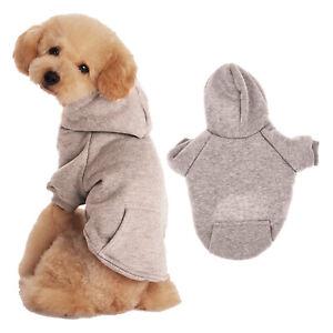 2 Leg Pet Dog Clothes Cat Puppy Coat Winter Hoodies Warm Sweater Jacket Clothing