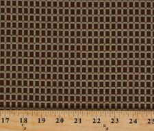 Jo Morton Emilie Rose Brown Box Grid Civil War Cotton Fabric Print BTY M720.01