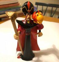 "Disney Aladdin Jafar & Lago PVC Figure 1992 Mattel VTG 3.25"" tall Staff Toy Bird"