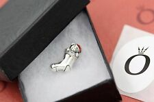 Genuine Pandora Red Enamel Christmas Stocking CZ Bead 791773CZ with tag & box