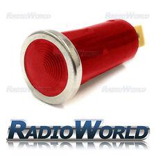 Rojo Iluminada Luz de advertencia lámpara indicadora coche DASH 12v Bisel Cromado