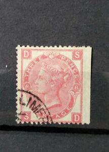 GB QUEEN VICTORIA SG 103 3D ROSE PL 8 FINE USED