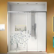 Porta doccia nicchia 180 cm cristallo trasparente scorrevole ingresso centrale