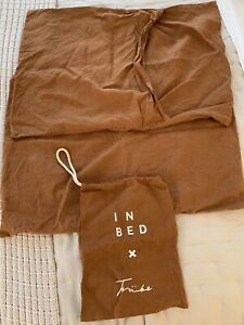 INBED Store x Tribe 100% Linen Pillow Case In Tobacco Standard Set Of Two