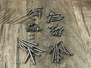 60 pcs #6 phillips oval stainless steel trim screw assortment fits Dodge