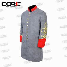 Us Civil War Cs Artillery captain's Single Breast Red Cuff&Collar Frock coat