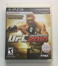 SONY PlayStation 3 PS3 UFC Undisputed 2010 (BLACK LABEL VERSION & COMPLETE)
