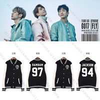 Kpop GOT7 Fly Concert Baseball Uniform Unisex Varsity Jacket Coat Jackson Mark