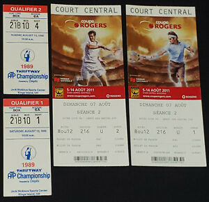 1989 TENNIS CHAMPIONSHIP + 2011 MONTREAL ROGERS CUP - TICKETS (4) - ORIGINAL