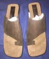 New Brown Suede Slip On Sandals By Luisa D'Orio Size 8M